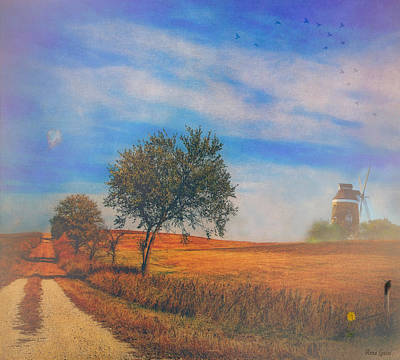 Photograph - Windmill On The Prairie by Anna Louise