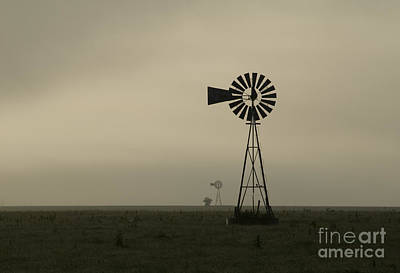 Windmill Perspective Art Print by Fred Lassmann