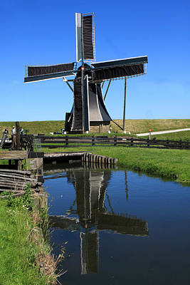 Photograph - Windmill Reflection  by Aidan Moran