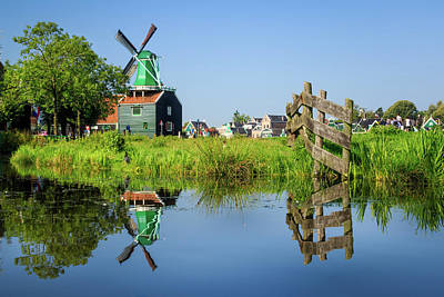 Photograph - Windmill Reflection by Michael Niessen