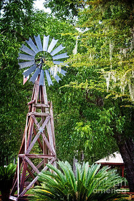 Photograph - Windmill Rural Landscape by Ella Kaye Dickey