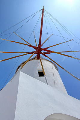 Photograph - Windmill, Santorini, Greece by Elenarts - Elena Duvernay photo