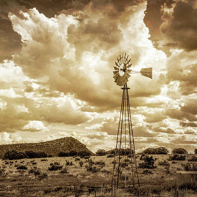 Photograph - Windmill Sepia by James Barber
