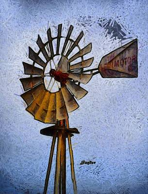 Photograph - Windmill Sisquoc California Abstract by Floyd Snyder