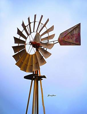 Photograph - Windmill Sisquoc California by Floyd Snyder