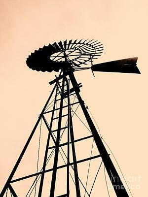 Windmill Standing Tall Art Print by Christine Belt