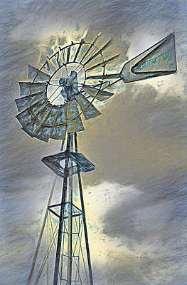 Built Structure Mixed Media - Windmill by Steve Ohlsen