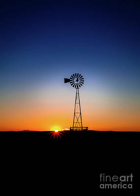 Photograph - Windmill Sundown by Steven Reed