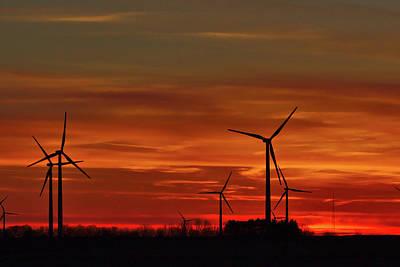 Photograph - Windmill Sunrise by Brad Chambers