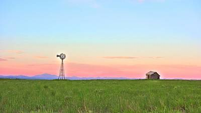 Photograph - Windmill Sunrise Douglas Wyoming I by Lanita Williams