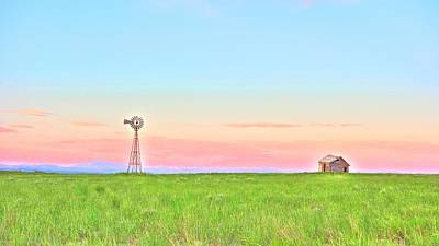 Photograph - Windmill Sunrise Douglas Wyoming II by Lanita Williams