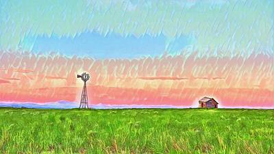 Photograph - Windmill Sunrise Douglas Wyoming IIi by Lanita Williams