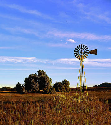 Photograph - Windmill Sunrise Vertical by Paul Breitkreuz