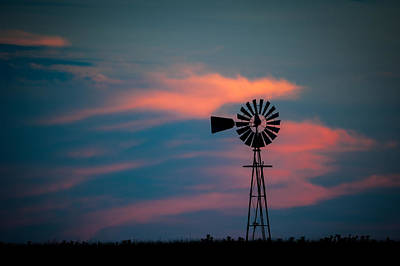 Photograph - Windmill Sunset by Jeff Phillippi