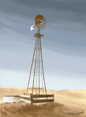 Painting - Windmill by Terry Frederick