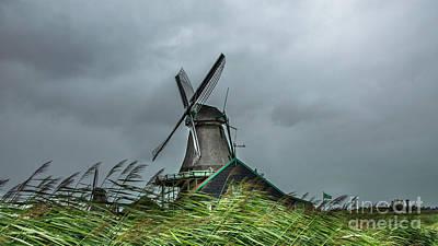 Windmill The Huisman  Art Print by Adriana Zoon