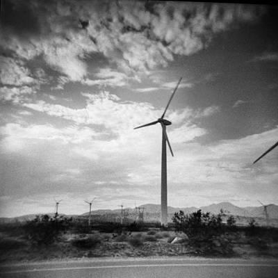 Holga Toy Camera Photograph - Windmills by Alex Snay