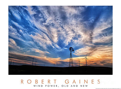 Photograph - Windmills At Sunset by Robert Gaines