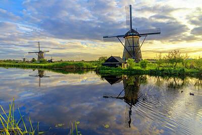 Netherlands Wall Art - Photograph - Windmills by Chad Dutson