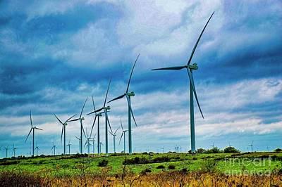 Photograph - Windmills In Oklahoma by Diana Mary Sharpton
