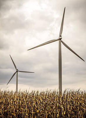 Photograph - Windmills In The Corn by Ron Pate