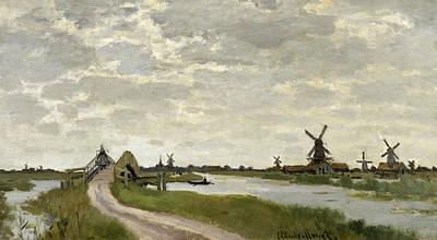 Painting - Windmills Near Zaandam by Claude Monet
