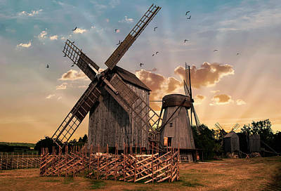 Photograph - Windmills Of Estonia by Jaroslaw Blaminsky
