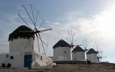 Photograph - Windmills Of Mykonos by T Guy Spencer