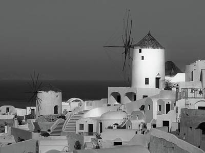 Photograph - Windmills Of Santorini  by Lucinda Walter