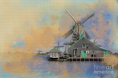 Photograph - Windmills Of Zaanse Schans by Eva Lechner
