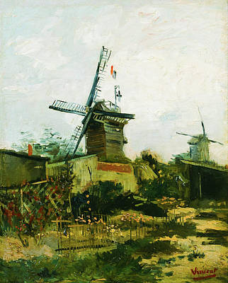 Edward Hopper - Windmills on Montmarte in 1886 by Vincent Van Gogh