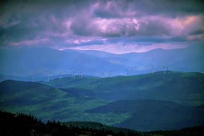 Photograph - Windmills On The Mountains by Sherman Perry