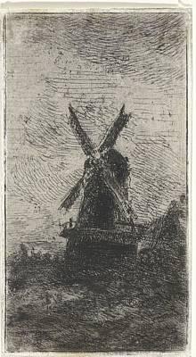 Peacock Feathers - Windmolen, Arnoud Schaepkens, 1831 - 1904 by Arnoud Schaepkens