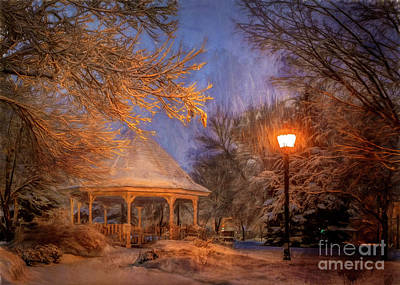 Digital Art - Windom Park Snowstorm by Al  Mueller