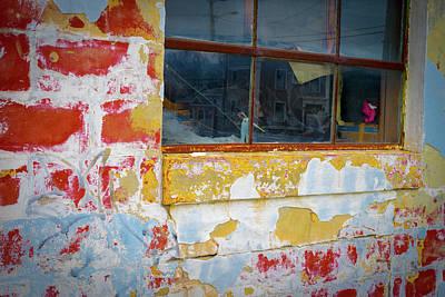 Photograph - Window  -  Kennebunk Machine Shop by Samuel M Purvis III