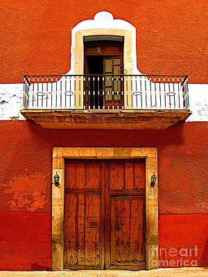 Window Above The Wooden Door Art Print by Mexicolors Art Photography