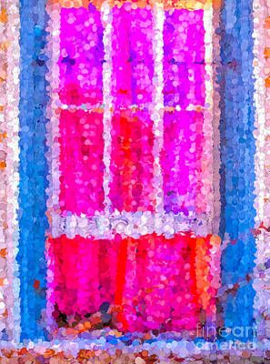 Photograph - Window Abstract by Kathleen K Parker