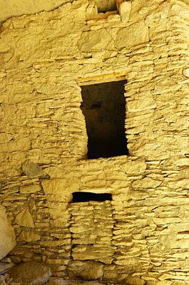 Window And Door Inside The Gila Ruins Print by Jeff Swan