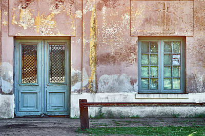 Photograph - Window And Door Of Old Train Station by Eduardo Jose Accorinti