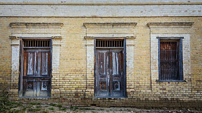 Photograph - Window And Doors To A Forgotten Past by Debra Martz