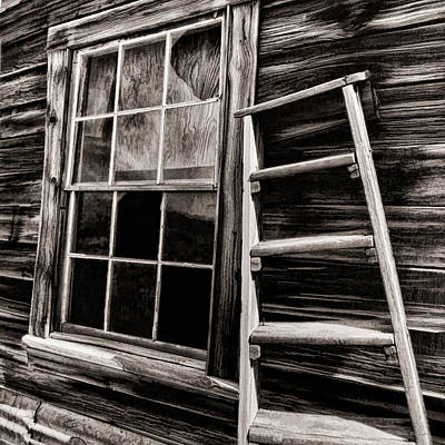 Photograph - Window And Ladder by Blake Richards