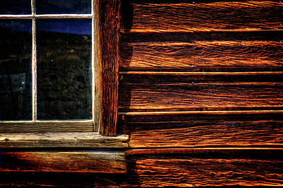 Photograph - Window And Plank Siding Detail by Roger Passman