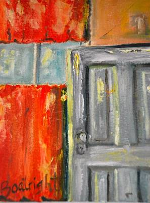 Window And The Pantry Door Art Print by Diane Fiore