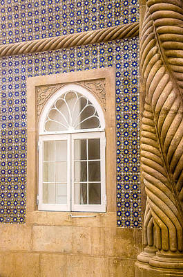 Photograph - Window And Tiled Wall Pena National Palace by Julie Palencia