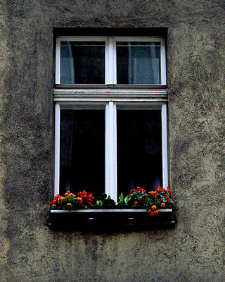 Photograph - Window At Lange Gasse, Vienna by Iqbal Misentropy
