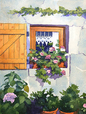 Window At St Saturnin Art Print