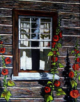 Cabin Window Drawing - Window At Upper Canada Village by Joyce Geleynse