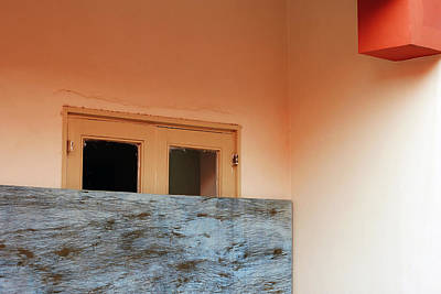 Photograph - Window Behind A Rectangle by Prakash Ghai