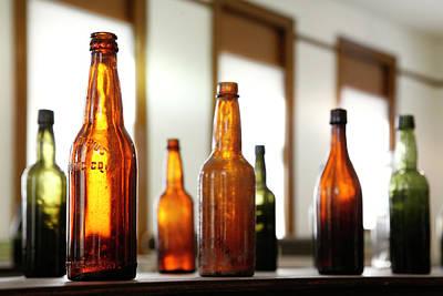 Window Bottles Print by Marilyn Hunt