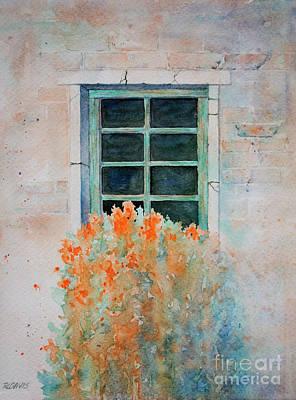 Painting - Window Box With Orange Flowers by Rebecca Davis